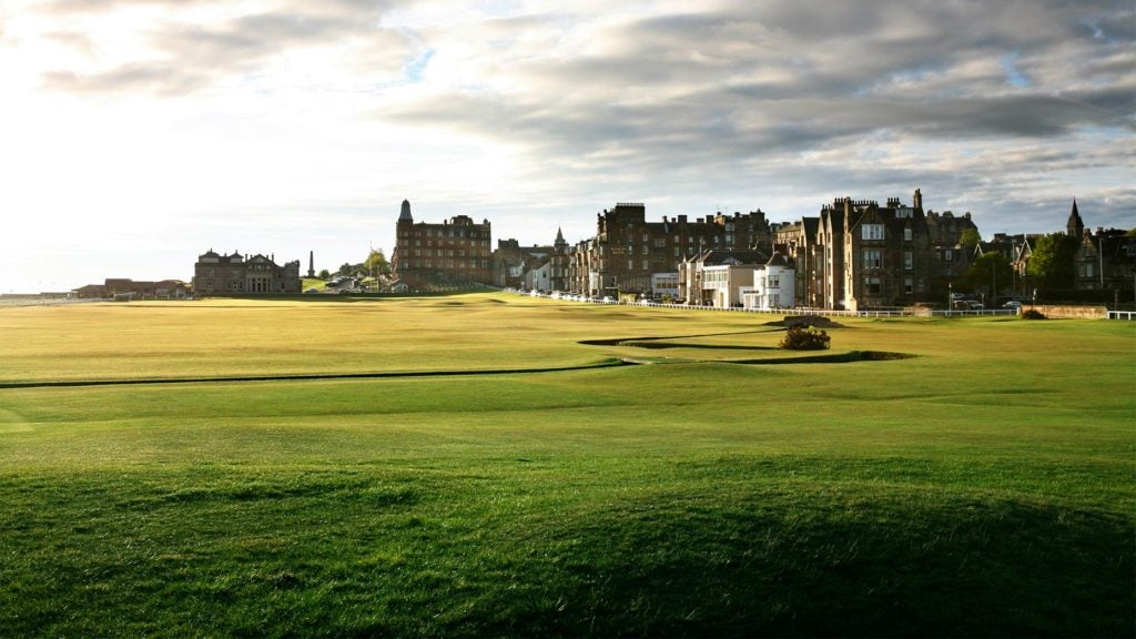 The Old Course at St. Andrews.