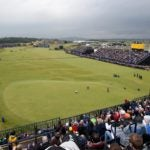 A view of the 18th green at the Old Course at St. Andrews during the 2015 British Open.
