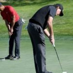 tiger woods phil mickelson putting
