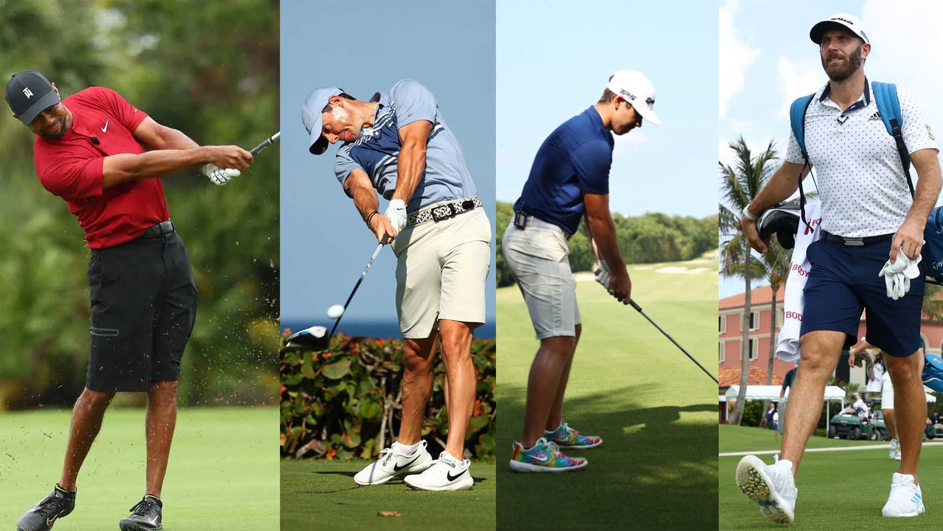 Tiger Woods, Rory McIlroy, Matthew Wolff and Dustin Johnson