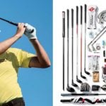 Pro golfer Webb Simpson and contents of his golf bag