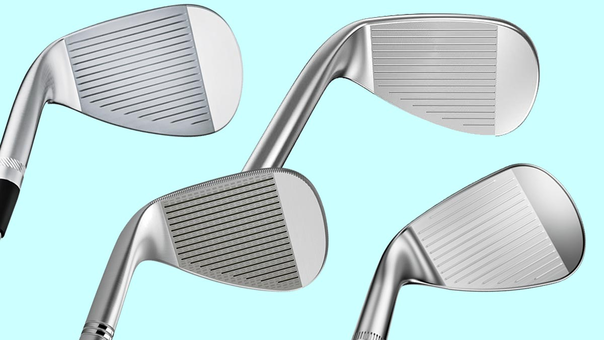 Four golf wedges