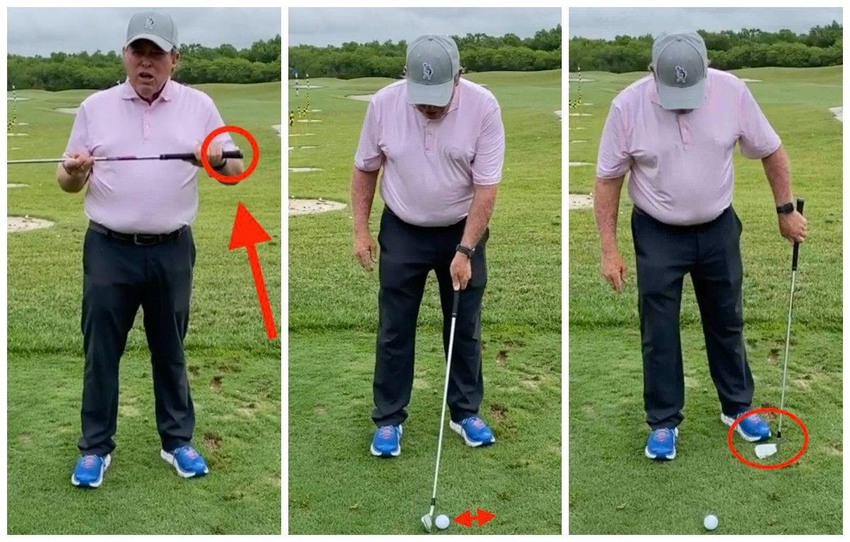 Golf Teacher Mike Adams demonstrates golf tip