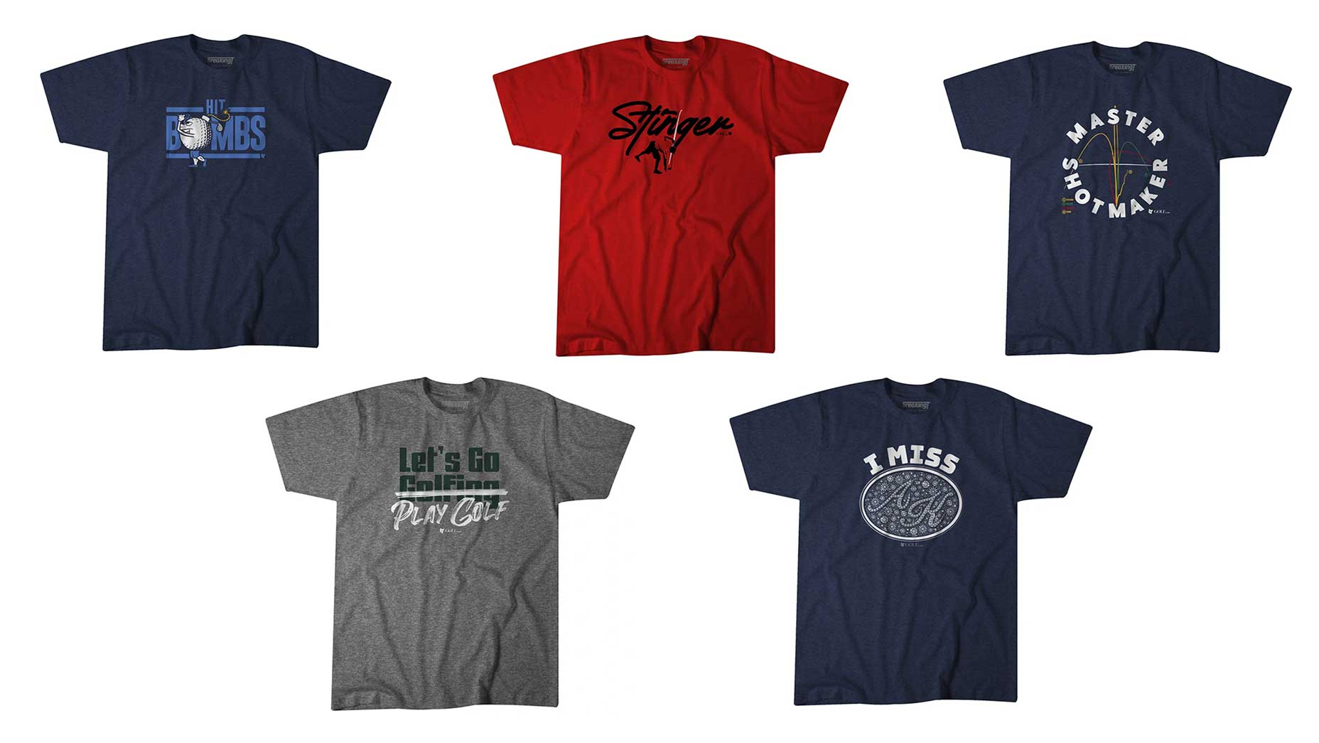 5 golf T-shirts we designed just for golfers to wear off the course
