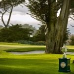 The Wanamaker Trophy at TPC Harding Park in 2018.