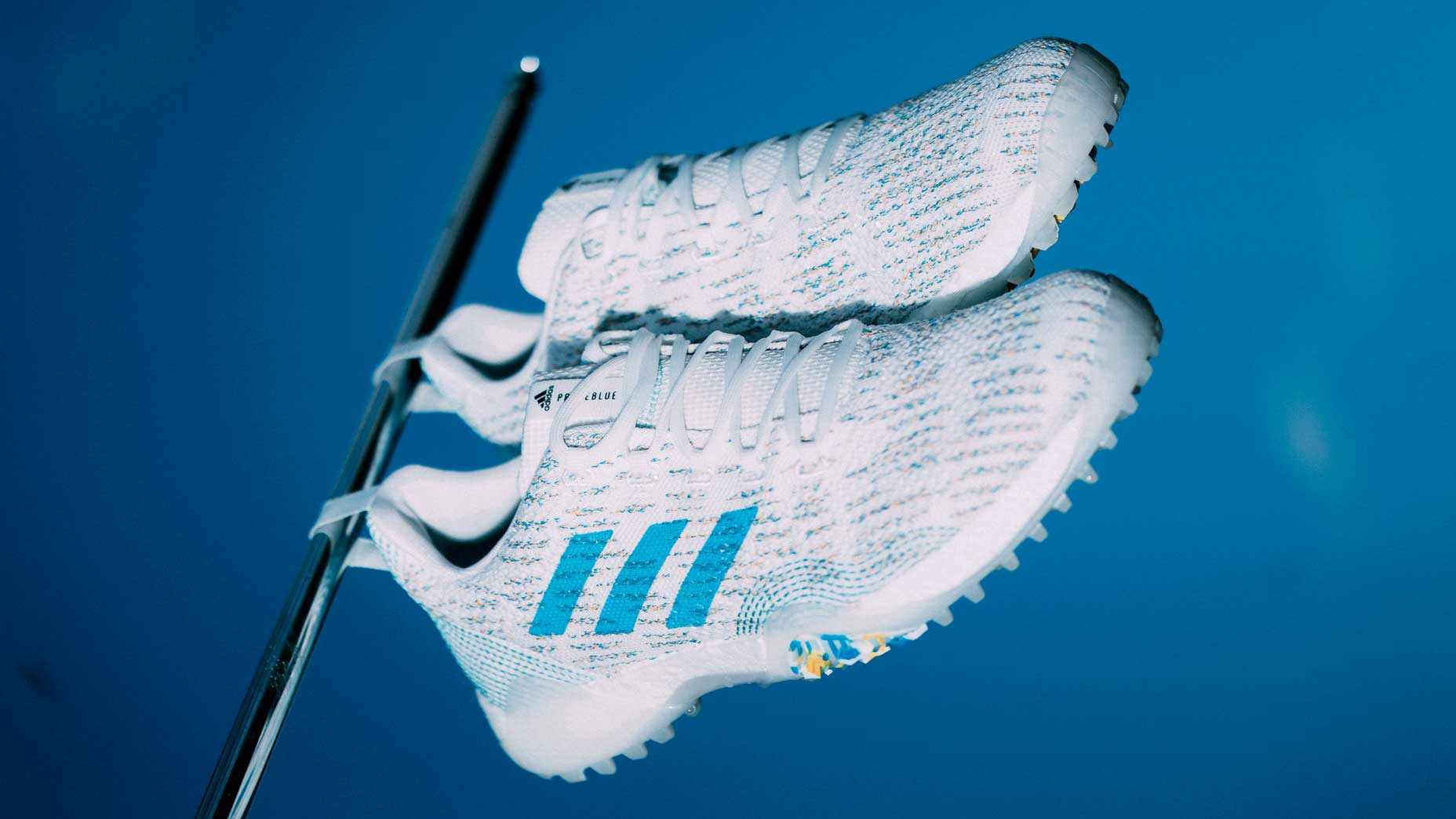 Adidas CodeChaos PrimeBlue golf shoes.