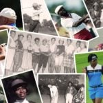 montage of black golfers