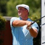 Pro golfer Bryson DeChambeau hits driver