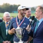 joe buck laughs with dustin johnson us open