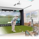 An illustration of FlightScope's Mevo+ simulator