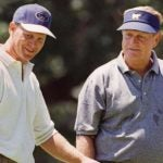 Jack Nicklaus and Gary Nicklaus during a practice round at the 1997 U.S. Open.