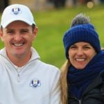 Justin Rose and his wife, Kate, at the 2014 Ryder Cup.