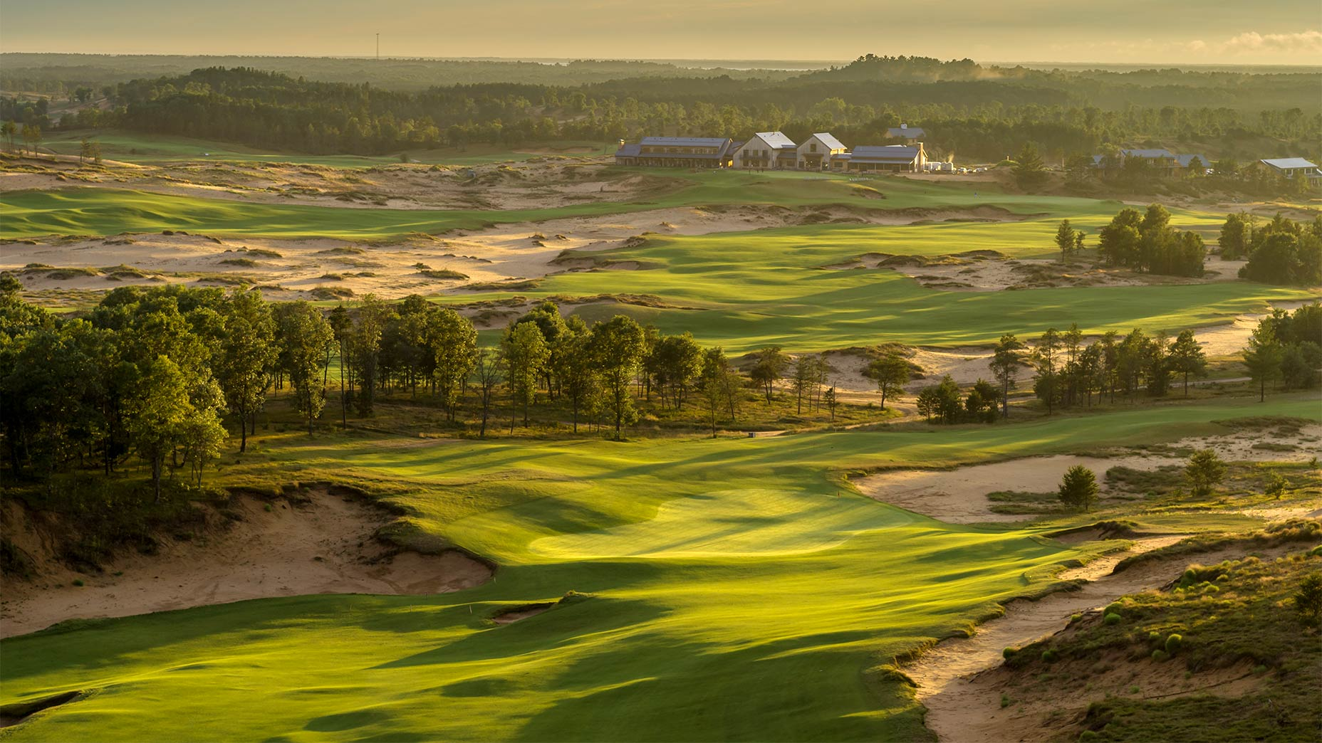 The 14th hole at Mammoth Dunes in Sand Valley.