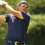 phil mickelson swings at the travelers
