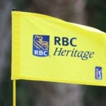 Flag at 2020 RBC Heritage golf tournament