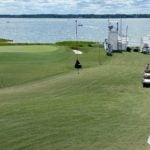 The 18th green at Harbour Town Golf Links.