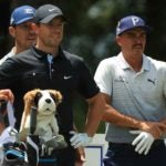 Pro golfers Rory McIlroy and Rickie Fowler at tournament