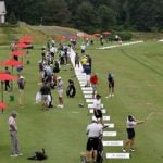 the range at the travelers championship