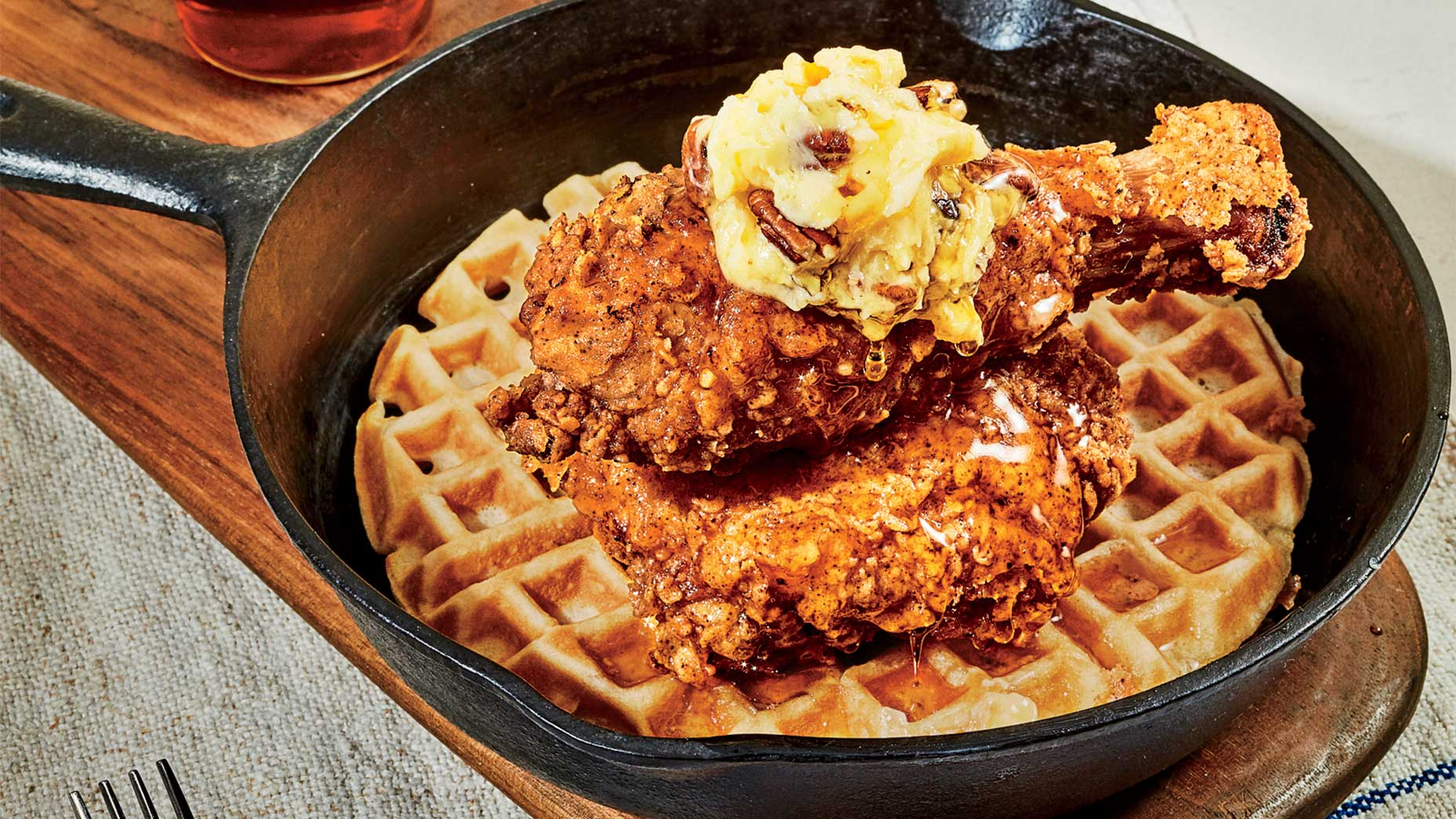 At the JW Marriott San Antonio, it's all about the chicken and waffles