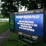 Weather delay at Travelers.