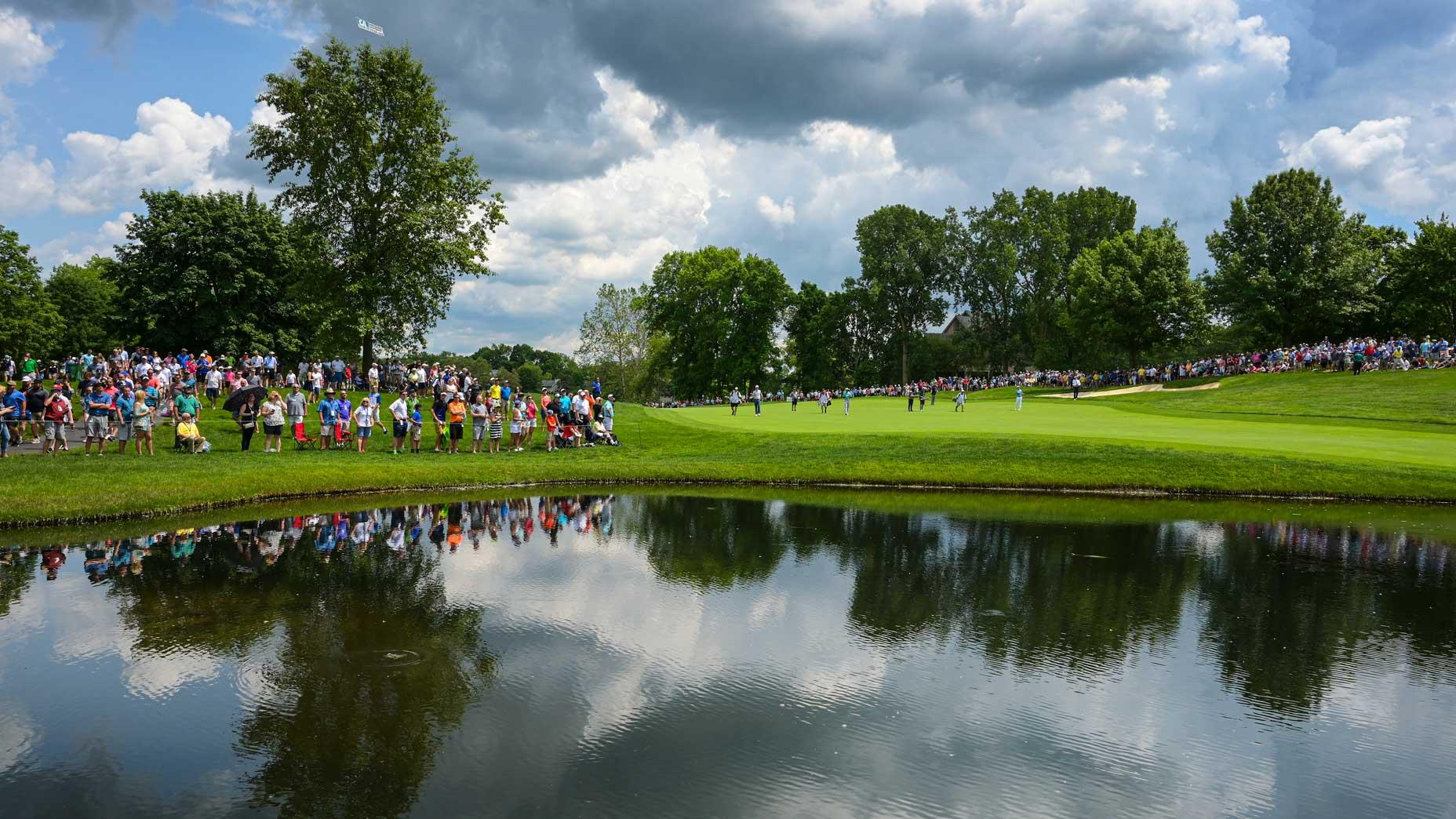The par-4 6th hole at Muirfield Village Golf Club in 2019.