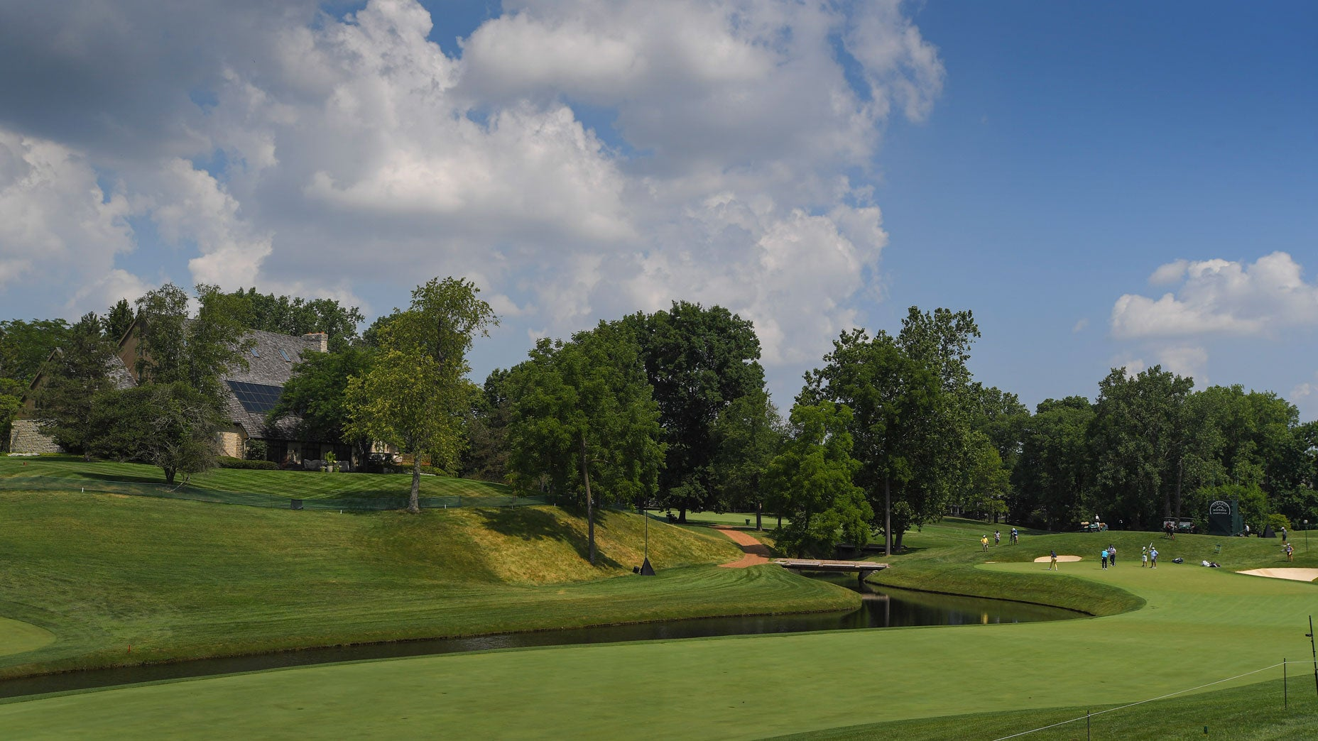 The par-5 5th hole at Muirfield Village Golf Club in 2020.