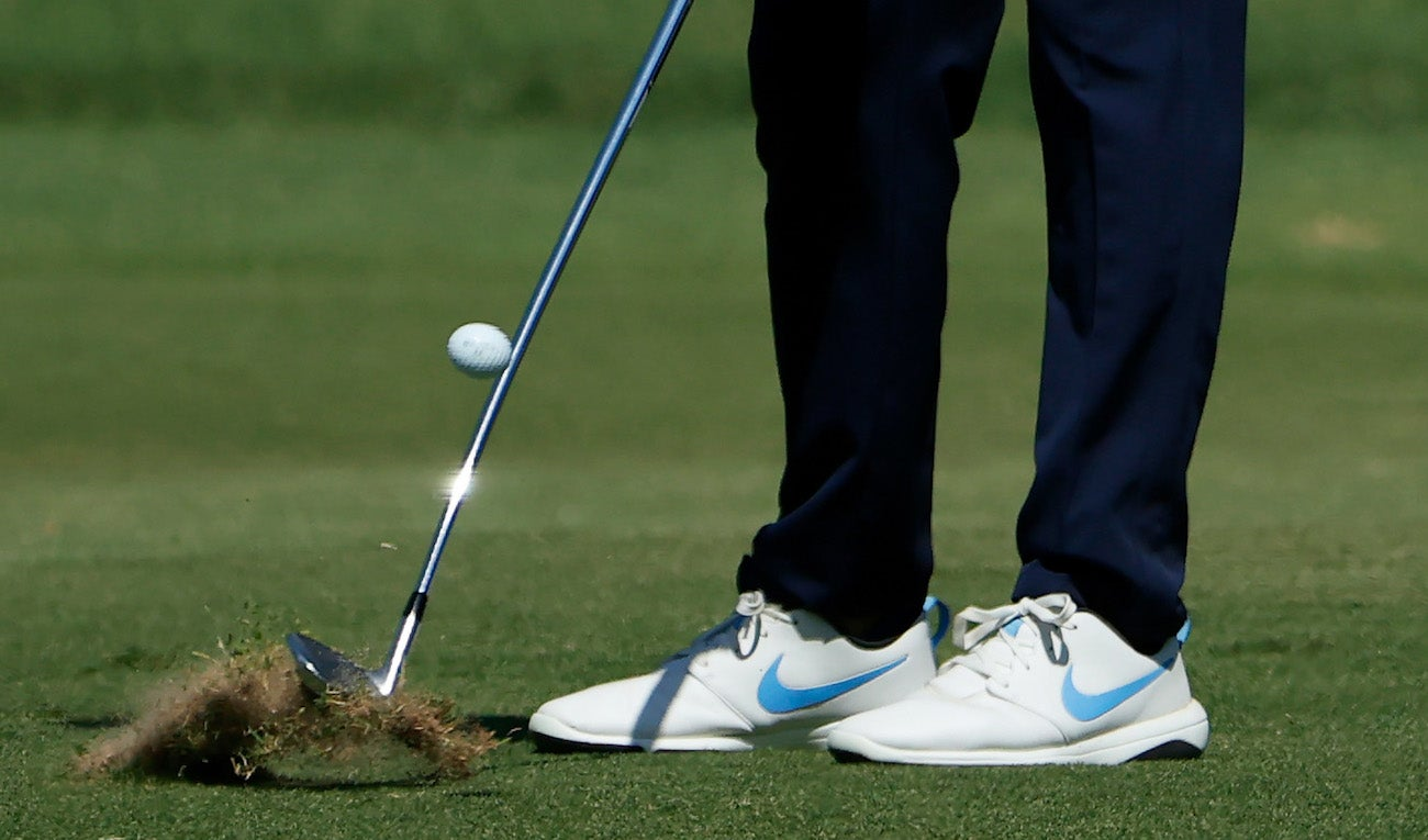 How to use the ground to hit a draw, a fade, and a straight shot