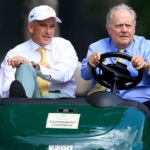 PGA Tour commissioner Jay Monahan and Jack Nicklaus