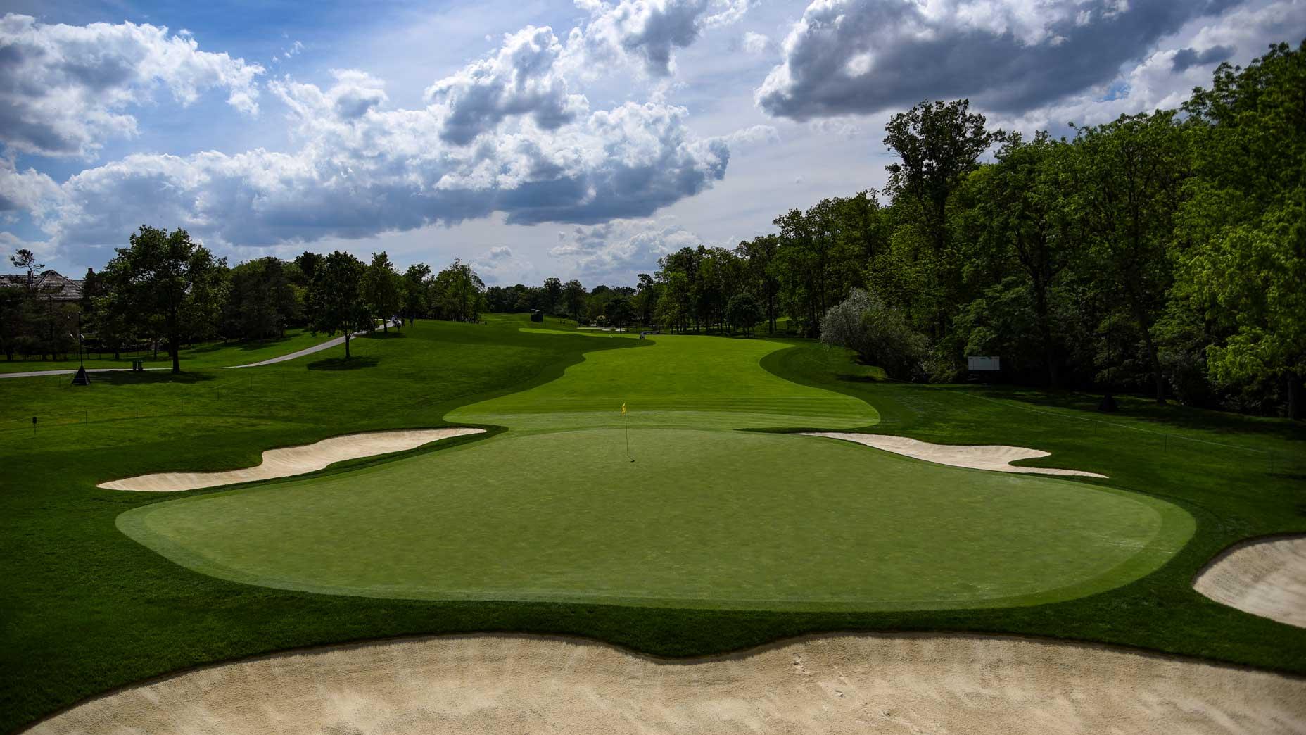 The par-4 1st hole at Muirfield Village Golf Club in 2017.