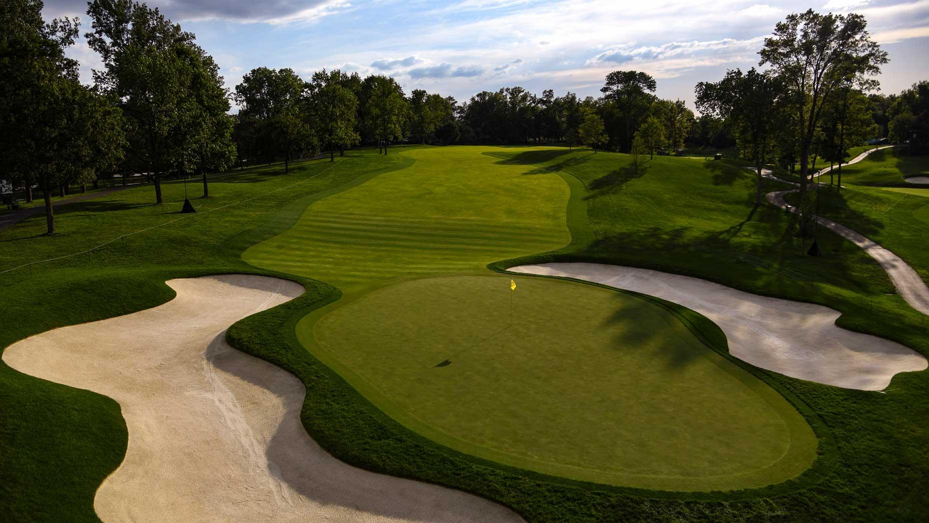 The par-4 13th hole at Muirfield Village Golf Club in 2017.