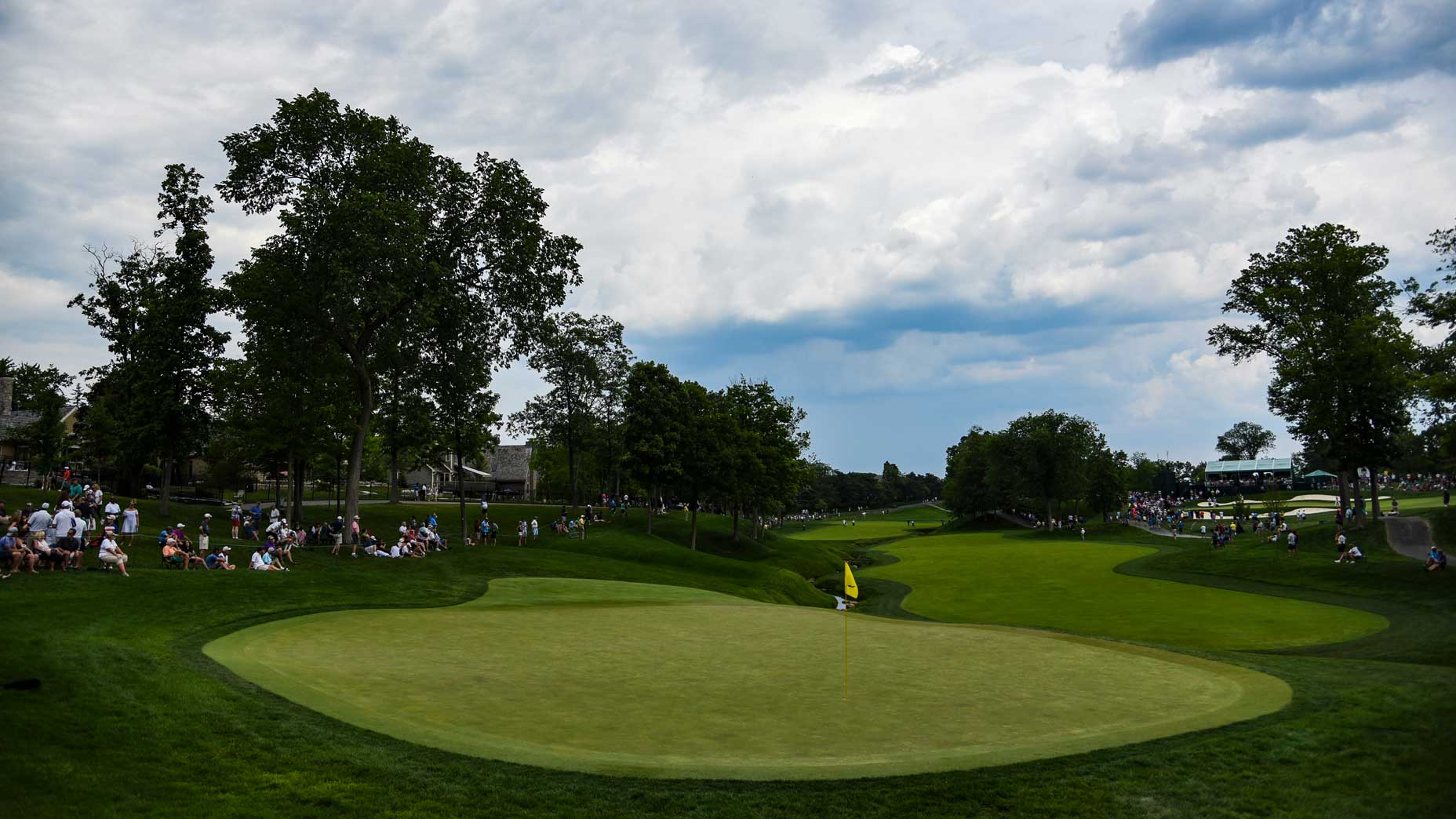 The par-5 11th hole at Muirfield Village Golf Club in 2017.