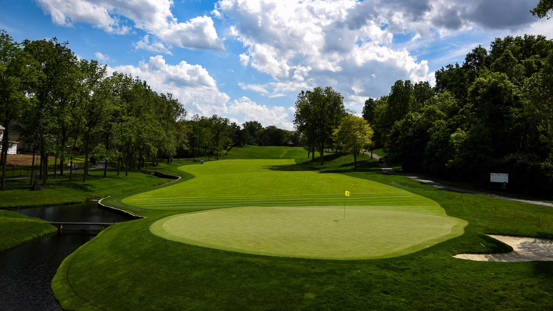 The par-4 2nd hole at Muirfield Village Golf Club in 2017.