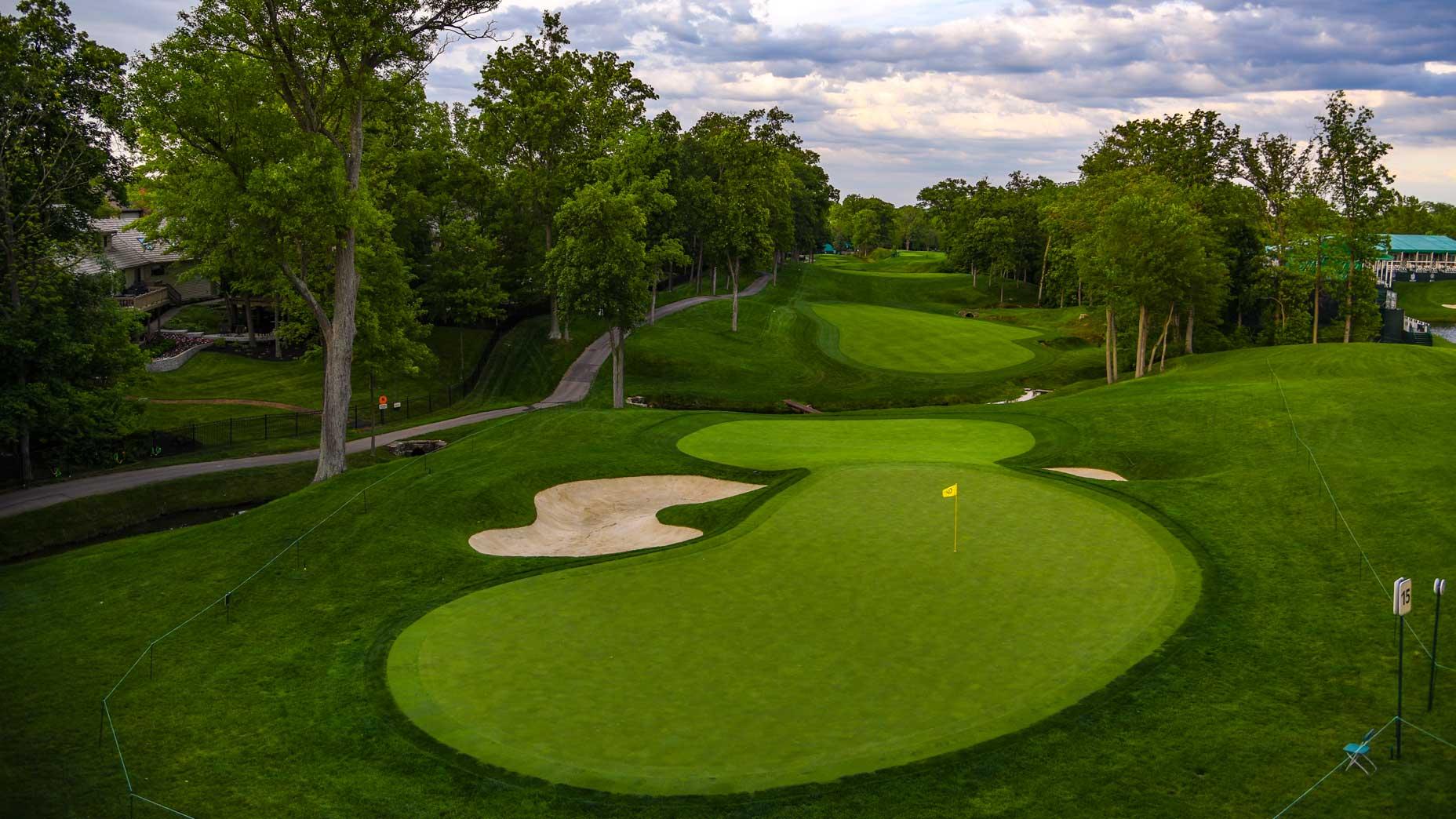 The par-5 15th hole at Muirfield Village Golf Club in 2017.