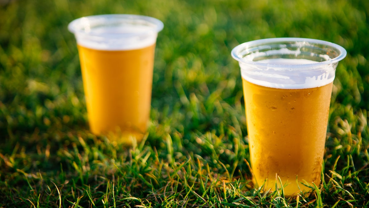 cold beer grass