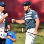 Bryson dechambeau fist pumps caddie rocket mortgage