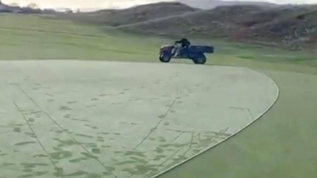 grounds crew dew sweeps green