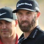 Pro golfers Dustin Johnson and Brooks Koepka