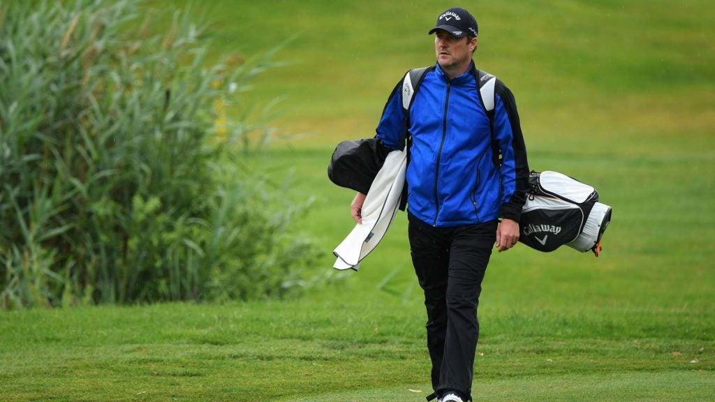 marc warren carries his bag