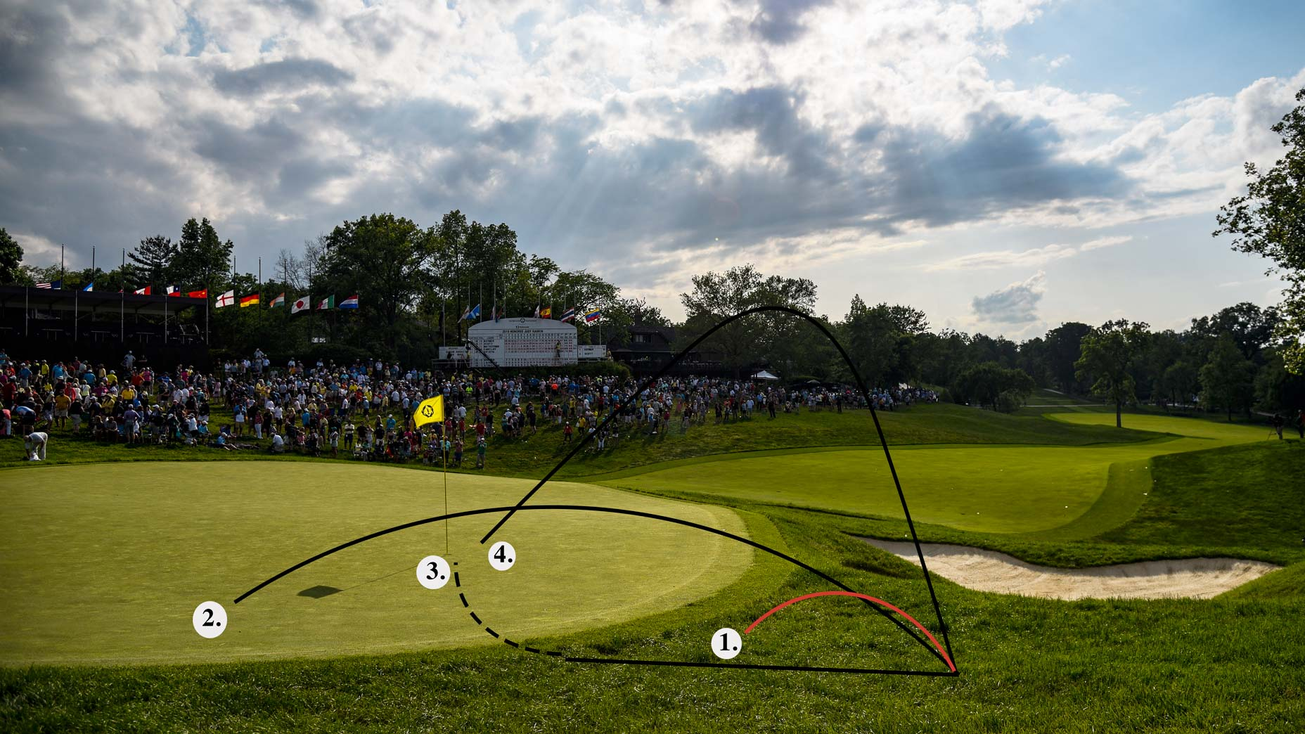 Here are 4 options when dealing with a short-sided chip shot