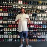 pat perez with his sneaker collection