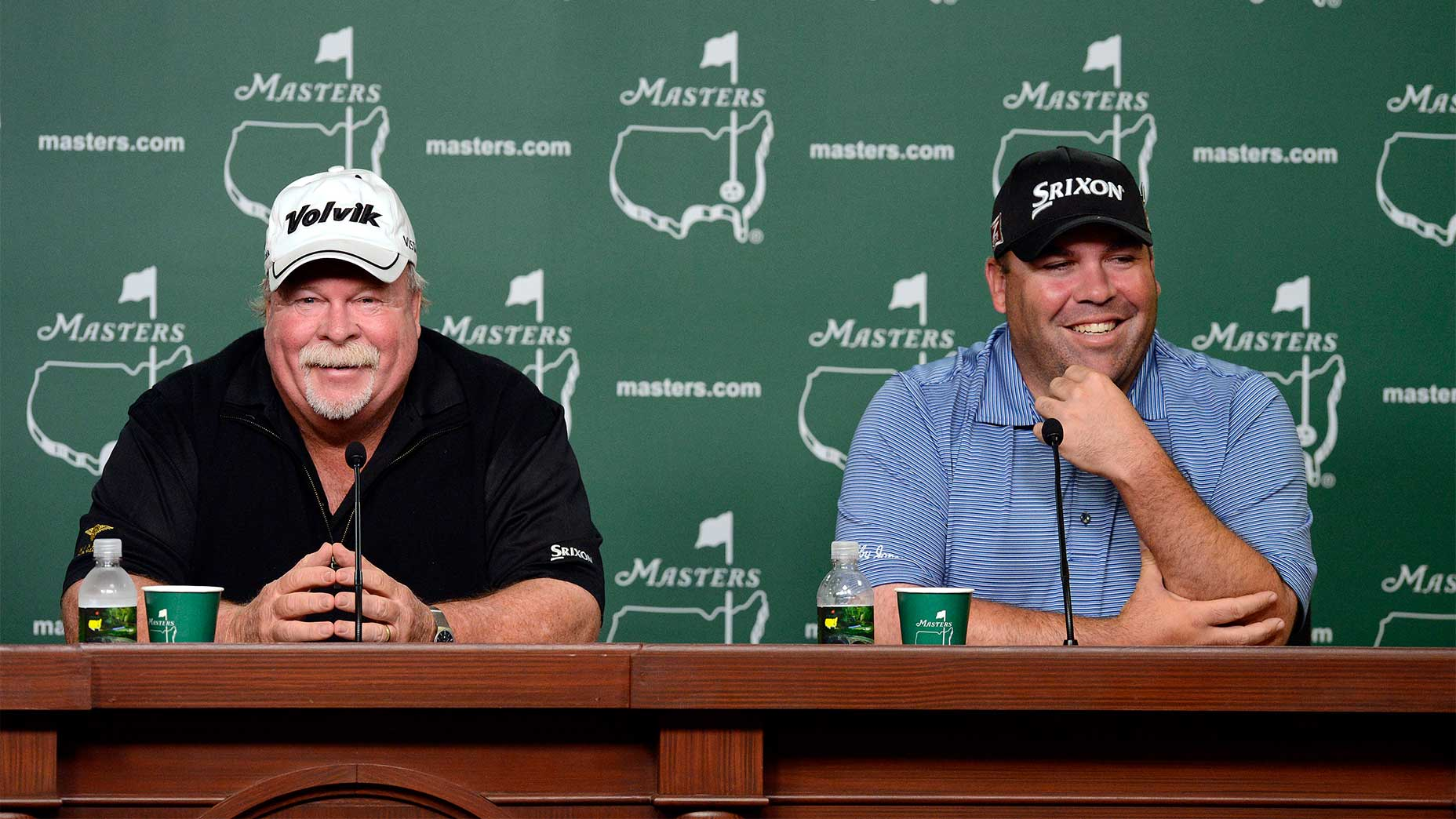 Craig and Kevin Stadler at the 2014 Masters.