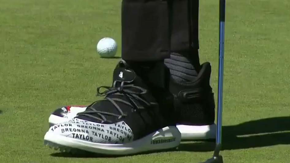 Steph Curry dons custom golf shoes to
