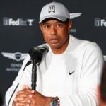 tiger woods talks to the media