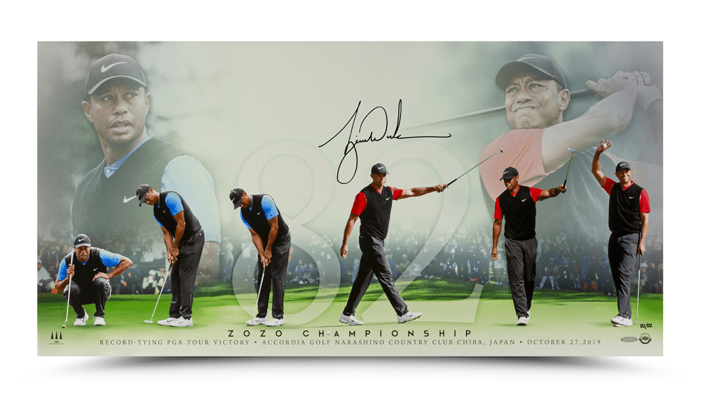 tiger woods signed card