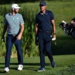 Pro golfers Tony Finau and Dustin Johnson
