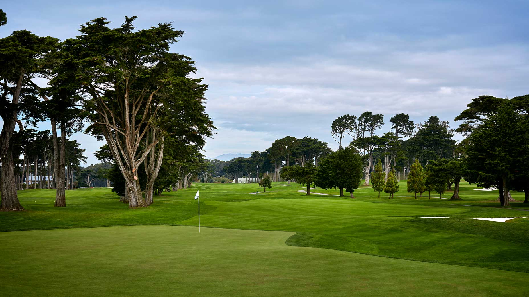 The 340-yard, par-4 7th hole at TPC Harding Park in 2018.