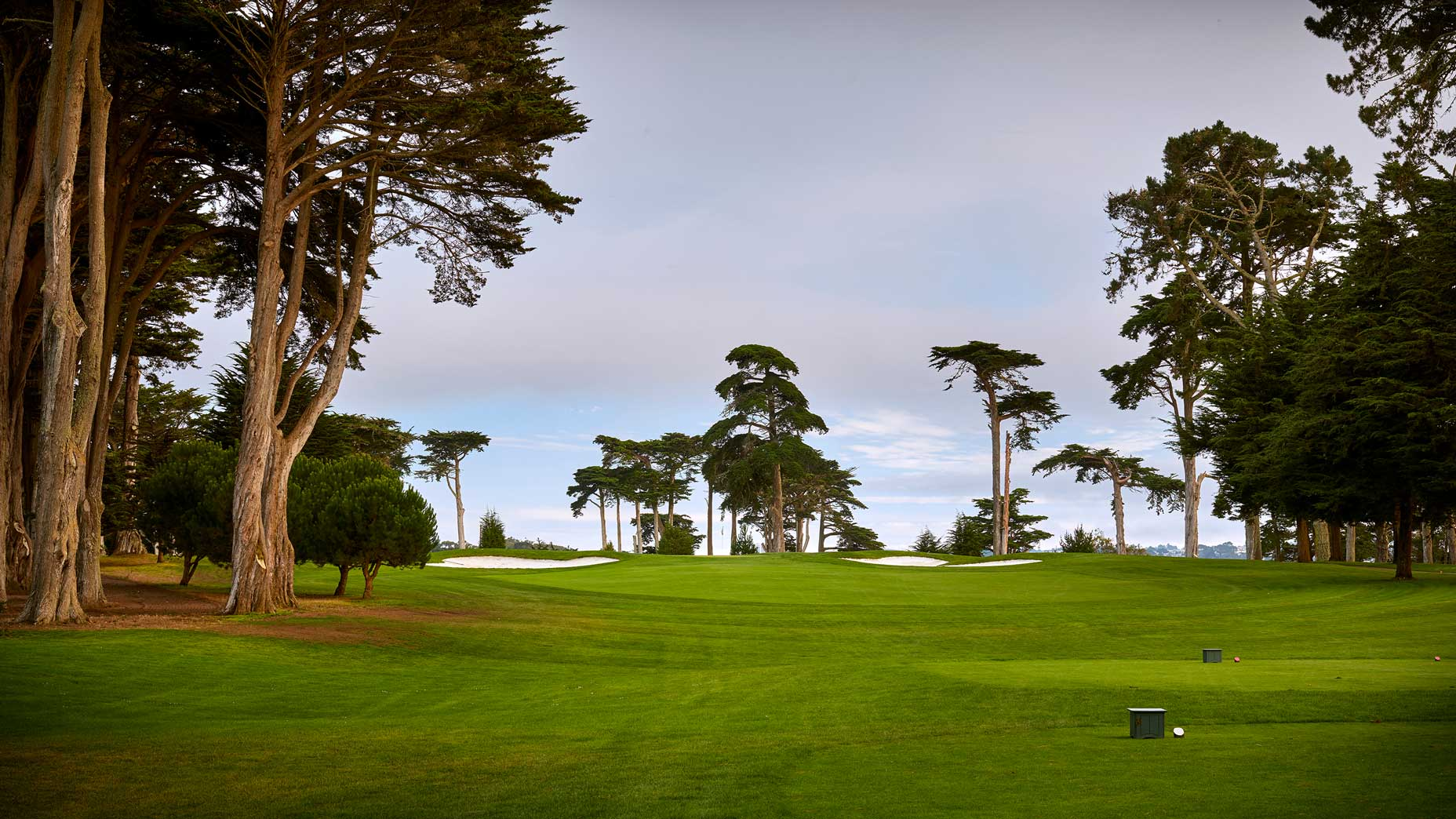The 185-yard, par-3 3rd hole at TPC Harding Park in 2018.