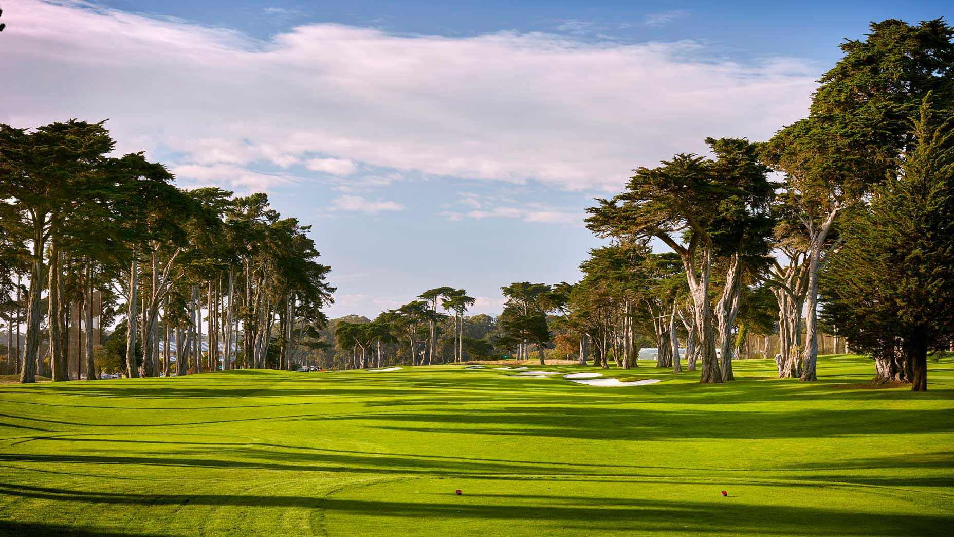 The 515-yard, par-4 9th hole at TPC Harding Park in 2018.