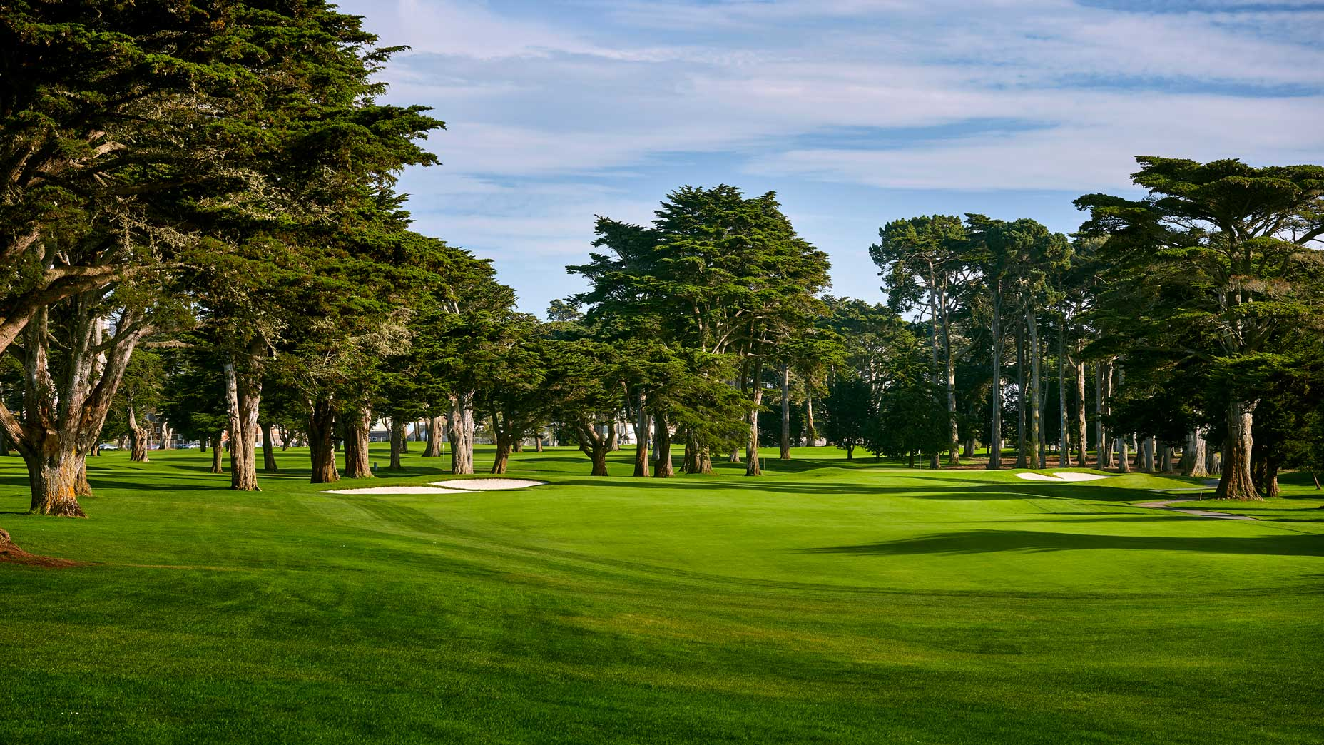 The 466-yard, par-4 2nd hole at TPC Harding Park in 2018.