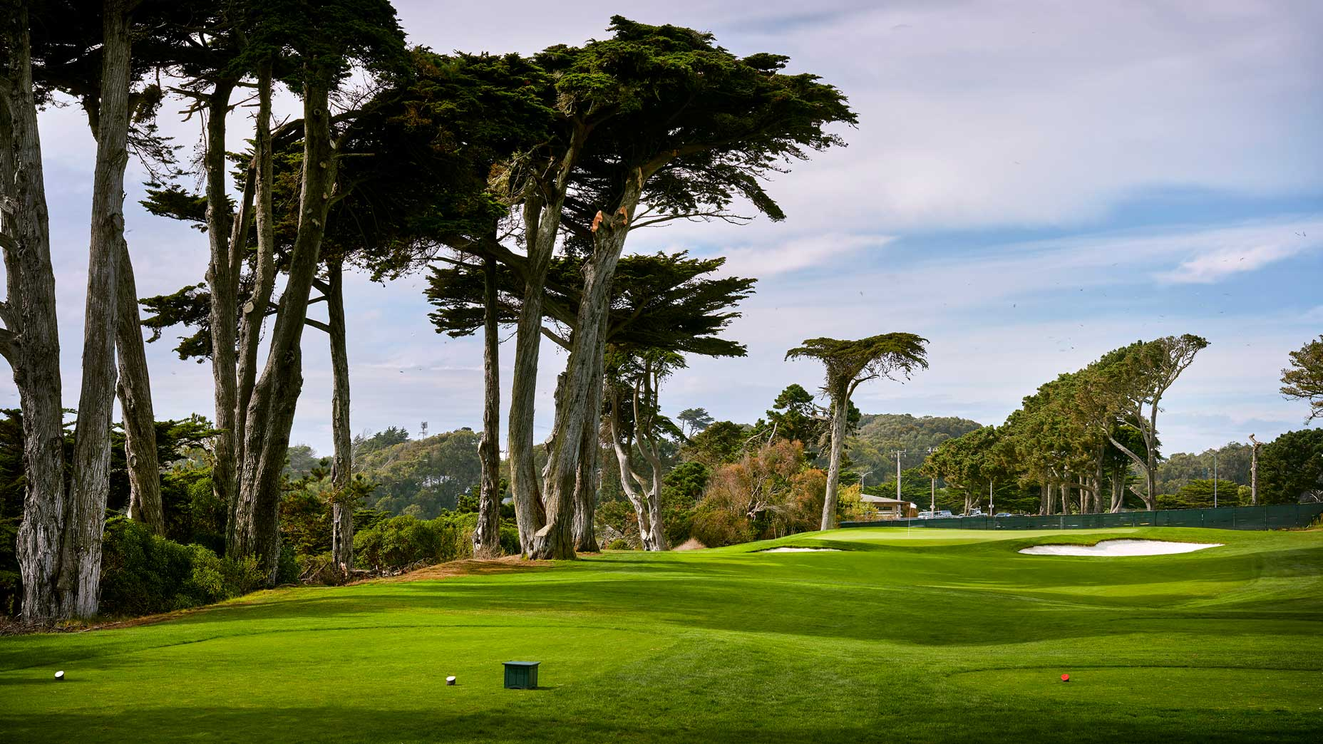 The 171-yard, par-3 17th hole at TPC Harding Park in 2018.